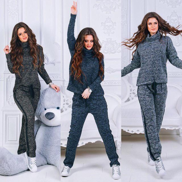 купить прогулочный женский вязаный костюм к21160 в украине