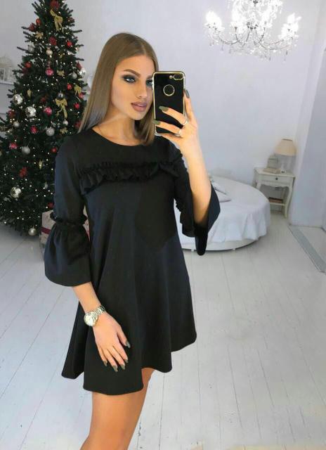 Платье женское короткое свободного кроя (К21208)