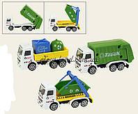 Игрушечная машинка металл 9803  мусоровоз, 3 вида в кор 11*6*5, 24  штук в дисплей боксе33*20*13 см.