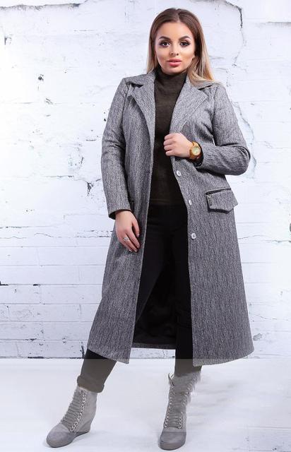 Длинное женское шерстяное пальто (К21272)