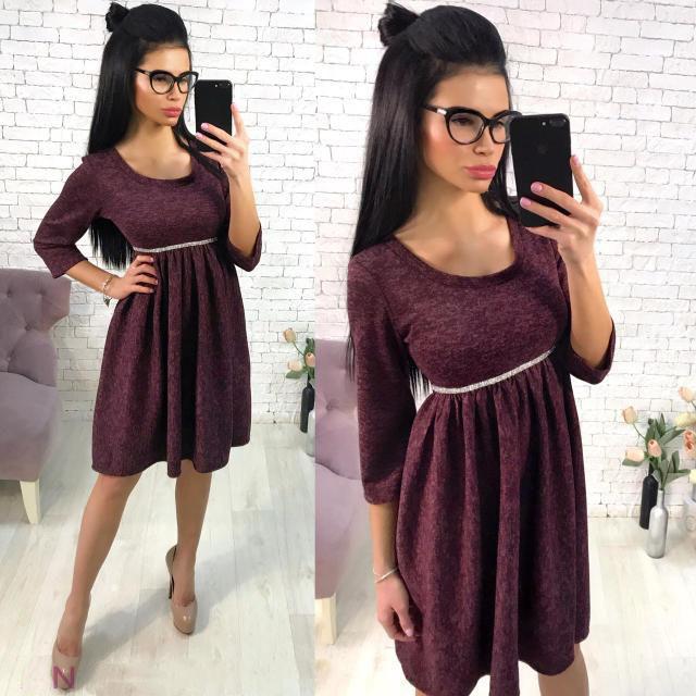 Платье женское короткое с драпировкой (К21304)