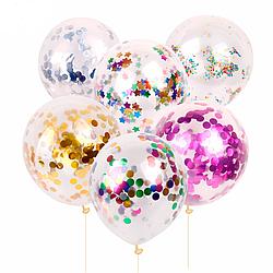 Прозрачный шар с конфетти на выбор 35 см