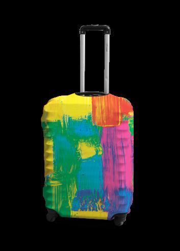 Чехол для чемодана Coverbag кисть M принт 0422
