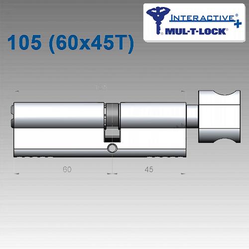 Цилиндр Mul-T-Lock Interactivе+ 105 мм (60х45T)