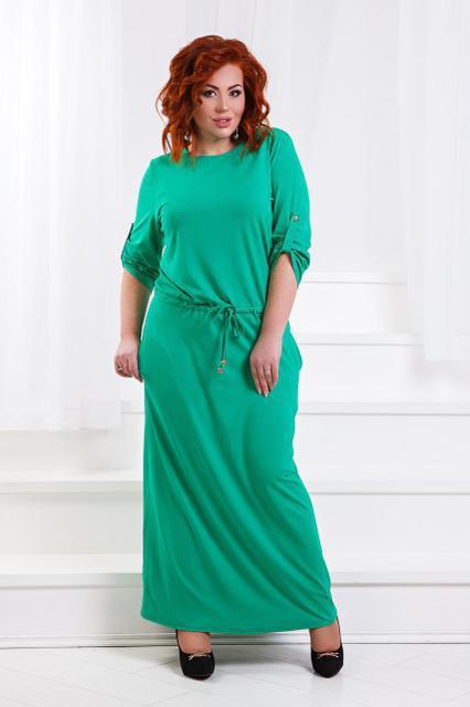 Летнее длинное платье из вискозы (К21579)