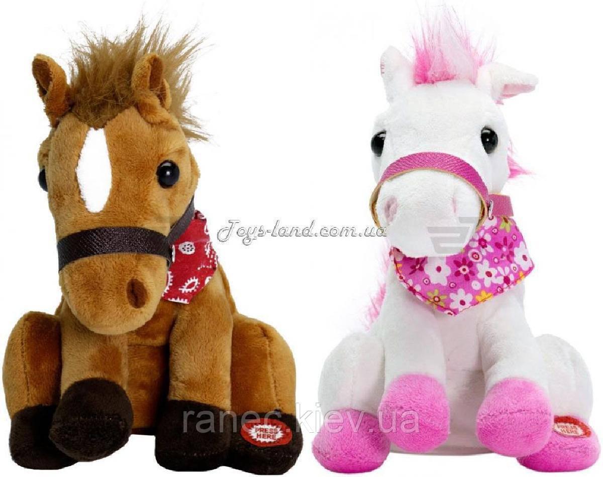 Мягкая музыкальная игрушка детская лошадка CL1306A/B Танцует,2 вида, в коробке
