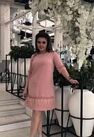 Платье женское короткое с перьем марабу (К21703), фото 1