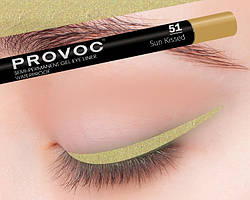 Полуперманентный гелевый карандаш для глаз №51 PROVOC Gel Eye Liner Sun Kissed