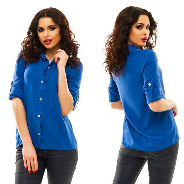 Рубашка женская летняя из штапеля (К21795)