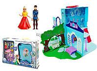 Игрушечный замок игровой набор -чемодан Frozen LM2038(LM2348)  куколки, мебель, аксесс, в коробке 54*10*36 см.