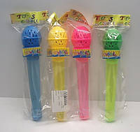 Мыльные пузыри 1841  Микрофон, 4 цвета, в пакете