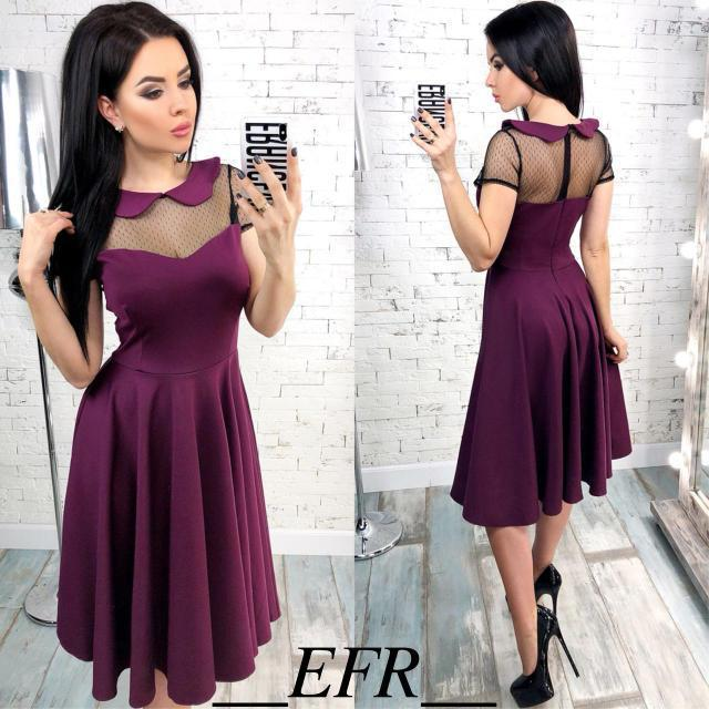 4a9ba5b3735 Нарядное женское платье-миди (К21880) - DESEO BOUTIQUE. Оптово-розничный  магазин