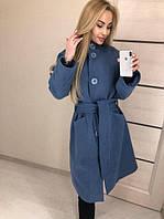 Стильное женское кашемировое пальто на пуговицах (К21886), фото 1