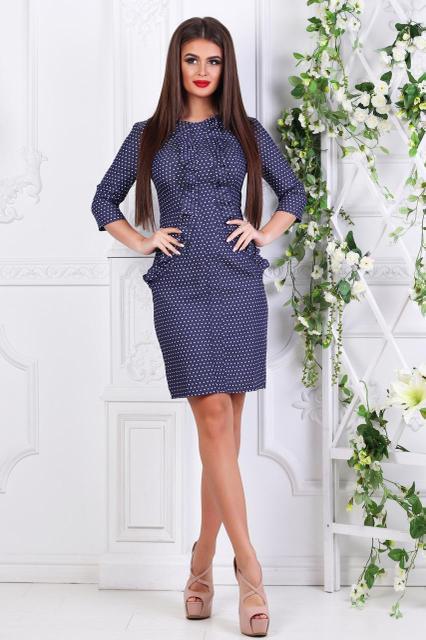 Платье женское короткое джинсовое (К21944)