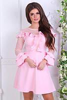 Нарядное короткое платье с рюшами (К21953), фото 1