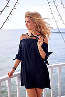 Летнее черное Платье Виоланта, фото 1