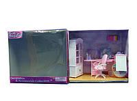 Мебель для куклы Gloria 24018GB  для офиса,комп,письм стол,стул,полка,шкаф,аксесс,в коробке 37*18*33