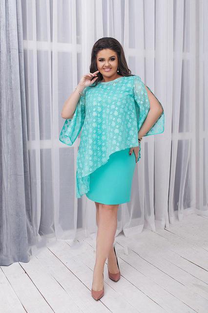 Платье женское летнее с накидкой (К22027)