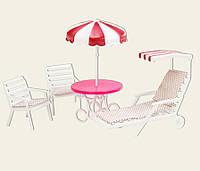 Мебель для куклы Gloria 3920  для отдыха на природе, в коробке 20*7*16 см.