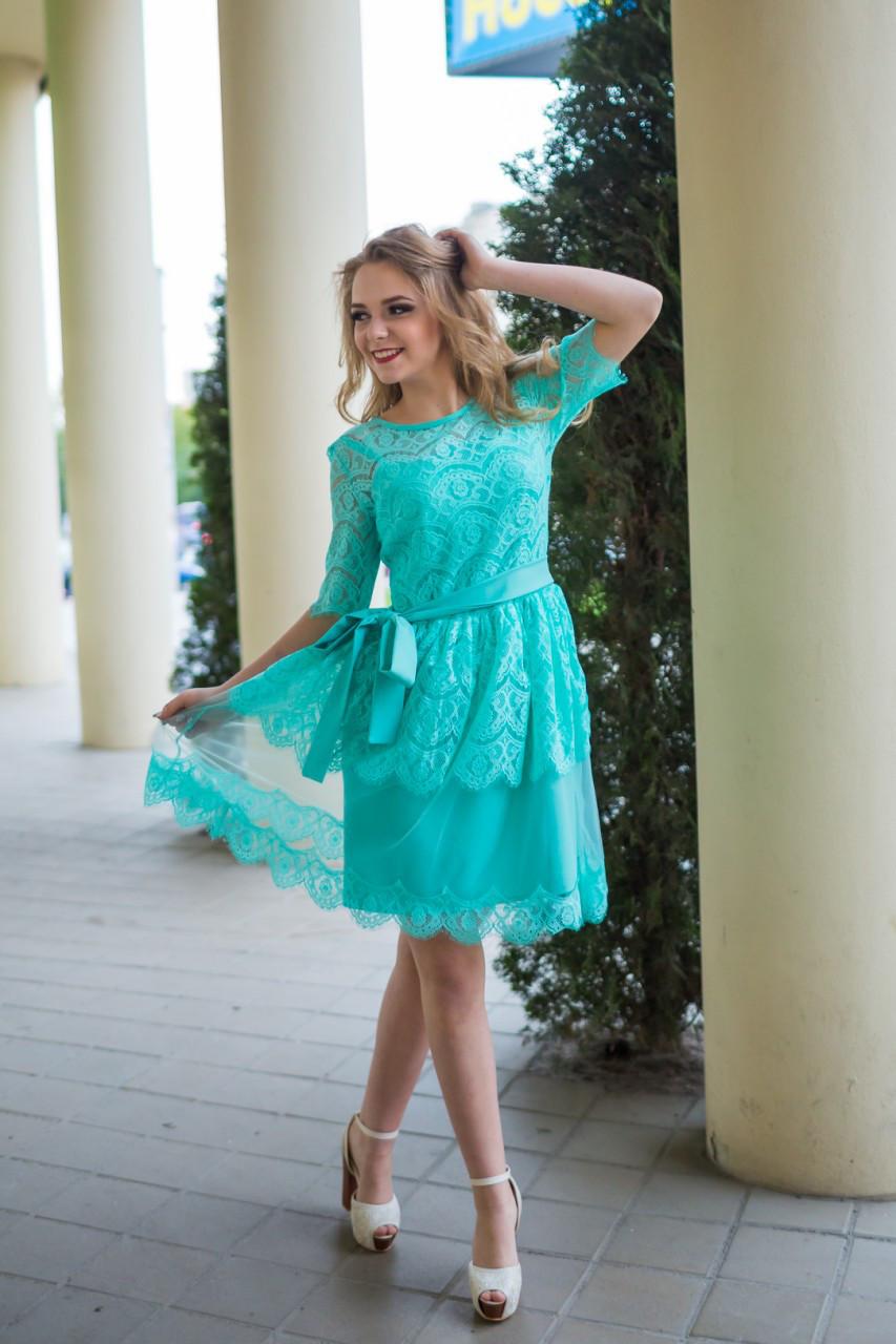 6448f9a37 Платье нарядное, праздничное Валерия от 44 до 48 новинка стильное, модное ,  купить