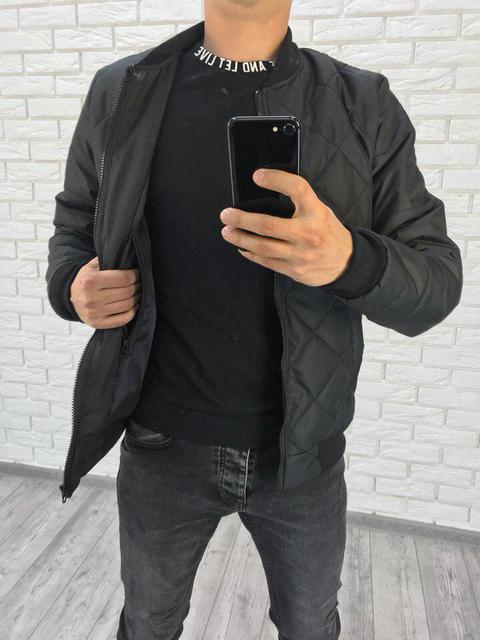 Демисезонная мужская куртка бомбер (К22326)