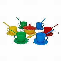 Набір посуду іграшковий на 6 персон Ромашка - Люкс з цукерницею, арт. 39090, Тигрес