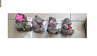 Мишки MI0013t13 мишка 11 см. 4 вида: цветочек, шарфик, сердечко, в пакете
