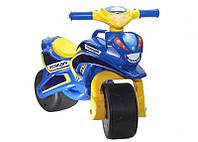 Мотобайк для катания Поліція музич. (синьо-жовтий), арт. 0139/57, Фламинго (Долони)