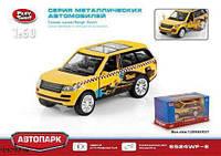 Игрушечная машинка модель джипа PLAY SMART 6524WF-E Автопарк такси  металл  инерционная открываются  двери  коробке 12*5,7*6,5 ш.к./108/