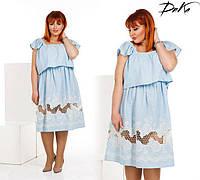 Платье женское льняное с прошвой (К22568), фото 1
