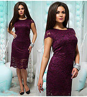 Ажурное летнее гипюровое платье батал (К22585), фото 1