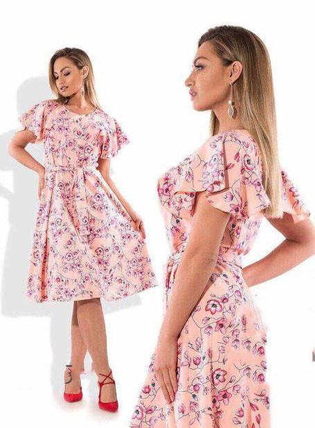 c1c9ef7f11e Купить Легкое летнее платье с цветочным принтом (К22600)  ...  в Украине