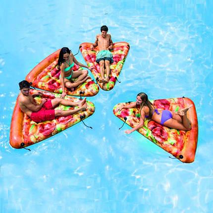 Надувной матрас для плавания Intex 58752 (175х145 см.) Матрас для плавания Пицца.  , фото 2