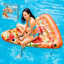 Надувной матрас для плавания Intex 58752 (175х145 см.) Матрас для плавания Пицца.  , фото 3