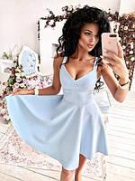 Платье женское короткое с глубоким декольте (К22724), фото 1