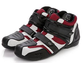 Красные дышащие защитные мото кроссовки ARCX