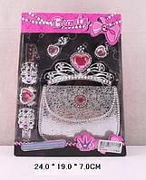 Аксессуары для девочек 610-6  сумочка,диадема,серьги,заколка в коробке 24*19*7 см.