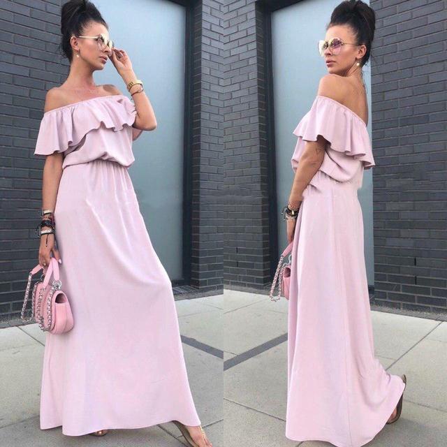 dc76b17761e Купить Платье длинное летнее с резинкой на талии (К22845)  ...  в ...