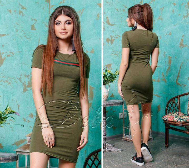 Летнее короткое приталенное платье (К22858)