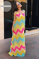 Платье женское в пол цветной узор  мтр059, фото 1