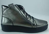 Ботинки демисезонные на низком ходу из натуральной кожи от производителя модель РБ - 02
