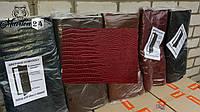 Обшивка дверная Рептилия Бордовый, фото 1