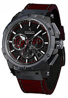 Годинник STARION B727A.04 Black/Black червоний рем.
