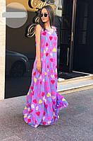 Платье женское в пол сердечки  мтр058, фото 1