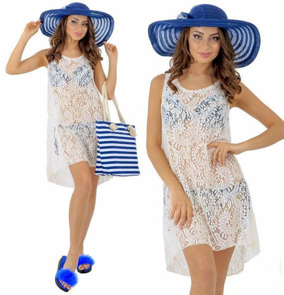 Платье женское короткое пляжное (К23060)