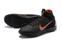 Футбольные сороконожки Nike SuperflyX VI Elite TF Black/Total Orange/White, фото 1