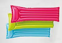 Матрац винил 59703  3 цвета, винил, с подголовником, 183*69  см.