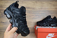 Женские кроссовки Nike Air VaporMax Plus Черные полностью Топ Реплика
