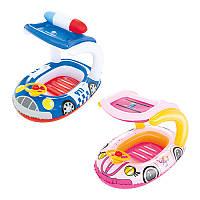 Детский надувной плотик-лодочка с навесом 34103 Bestway, 98х66 см, 2 вида