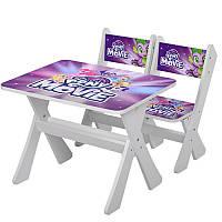 Детский столик со стульчиками Pony MovieМ 2100-15 Bambi, белый с фиолетовым